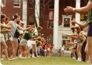 Egg Toss at Devil-Goat Day, 1983, Centennial Image Collection, Special Collections and University Archives