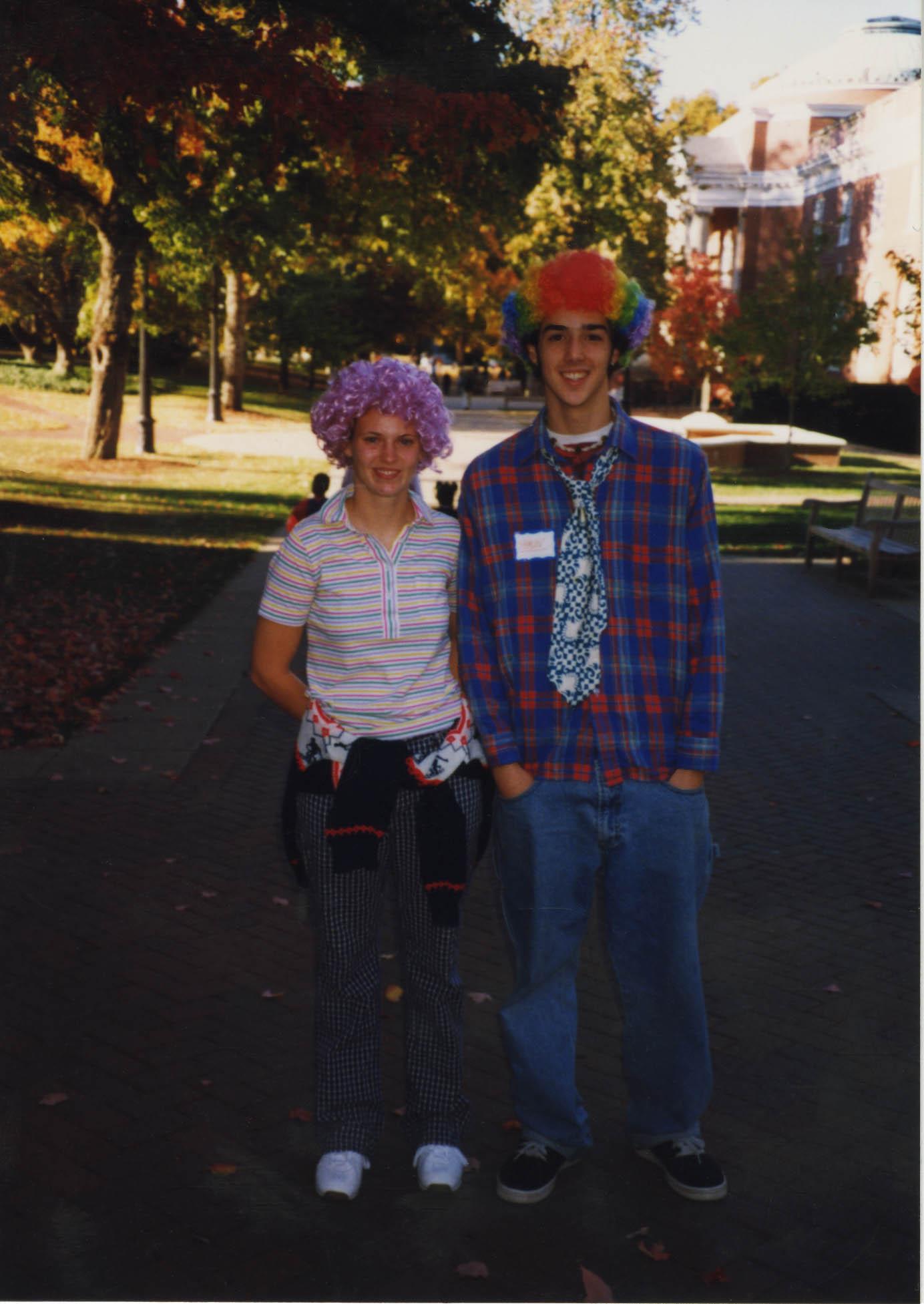 Mary Washington Students Participating in COAR's Halloween Festivities, 1998