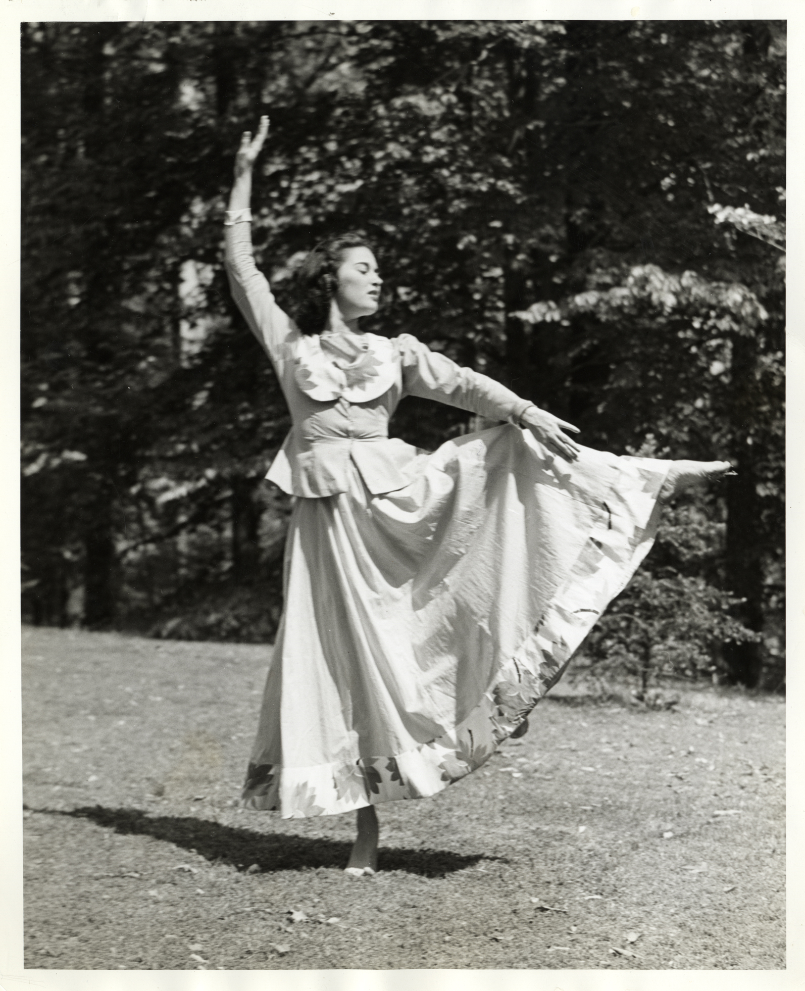 Myron Russell portraying Joan of Arc in the first May Day ballet program, 1941
