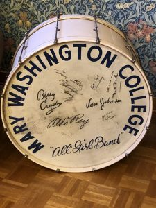 """All-Girl Marching Band"" Bass Drum in Special Collections"