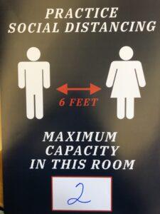 Social distancing 2 person capacity sign