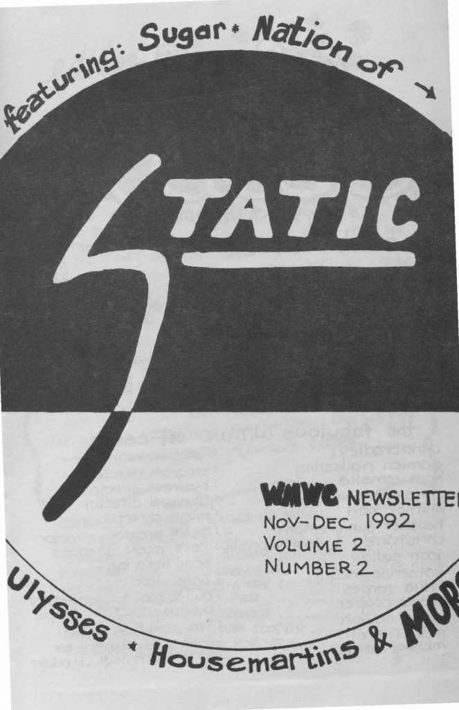 Front cover of a Static issue, displaying the title in white letters against a black background.